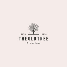 Tree Logo Retro Hipster Vintag...