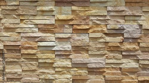 Foto op Aluminium Wand stone wall background rock pattern brick wallpaper