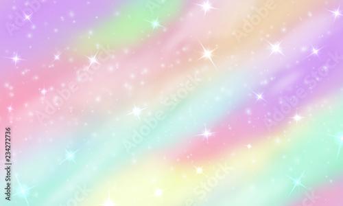 Fotografia Rainbow unicorn background