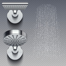 Realistic Shower Metal Heads A...