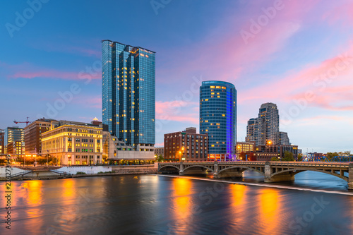 Grand Rapids, Michigan, USA Downtown Skyline Fototapete