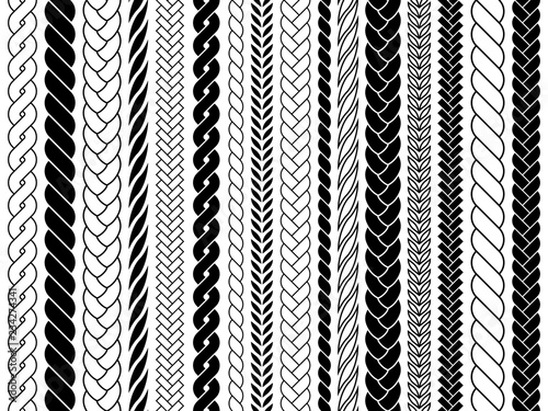 Plaits and braids pattern brushes Fototapet