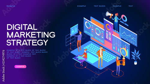 Canvastavla Digital marketing strategy Web Banner