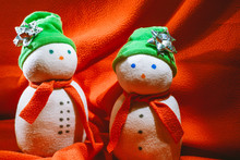 Two Handmade Snowmen Made From...