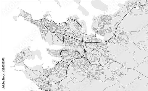 Fotografía  map of the city of Reykjavik, Capital Region, Iceland