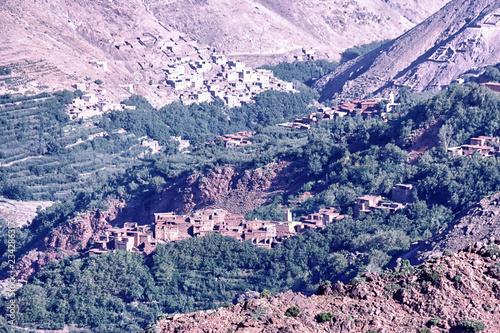 town in a valley
