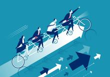 Team Success. Business Concept Vector Illustration