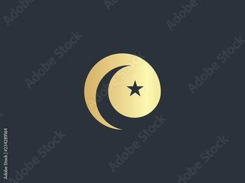 Fotomural Crescent and star symbol
