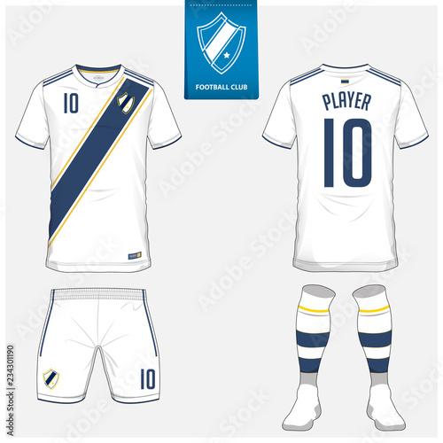 Soccer jersey or football kit, shorts, sock, template design