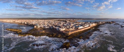 Aerial panorama of Essaouira city