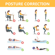 How To Correct Posture Infogra...