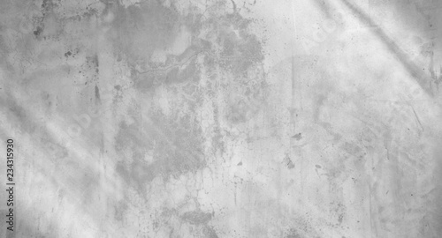 Fotobehang Betonbehang white concrete wall with shadows from the window - Abstract background