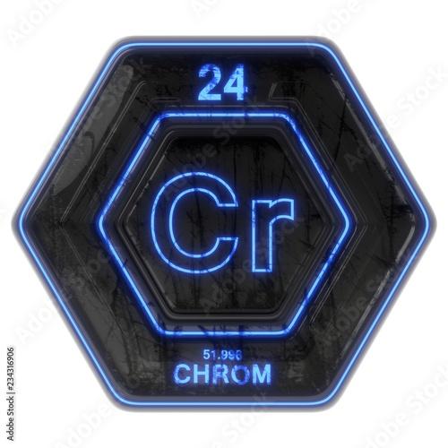Fotografía  Sci Fi Button Chrom