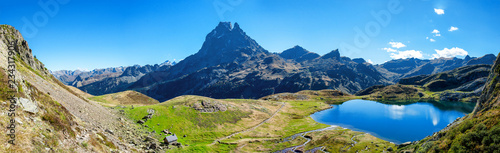 Fototapeta view of Pic Du Midi Ossau in autumn, France, Pyrenees obraz