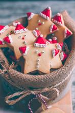 Close-up Of Santa Cookies
