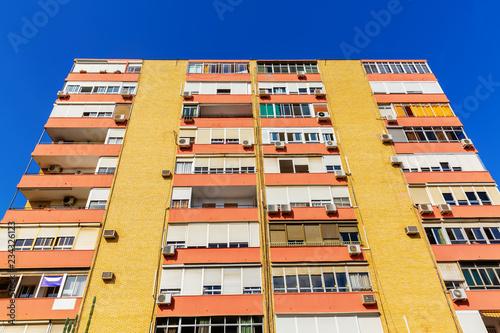 In de dag Stad gebouw apartment block in Seville, Spain