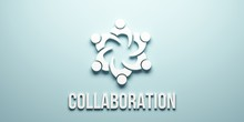People Community Collaboration. 3D Render Illustration
