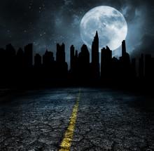 Abandon City Ruins Apocalypse Concept