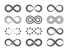 Black Infinity Symbols. Repeti...