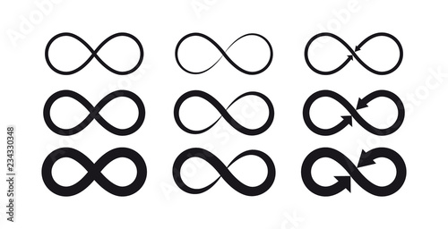 Fototapeta Infinity symbols