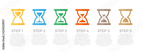 Fotografía  Vector hourglass infographic concept