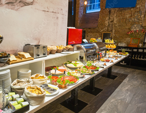 Cadres-photo bureau Buffet, Bar Hotel buffet breakfast