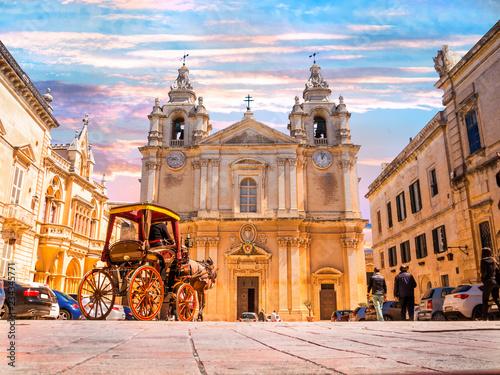 Fotomural  Beautiful famous Metropolitan Roman Catholic Cathedral of Saint Paul in main tow