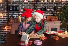 Kids Making Cookies For Christmas