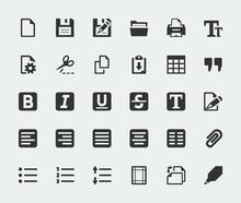 Vector Text Editor Mini Icons ...