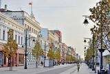 Fototapeta Miasto - Łódź, Poland - Piotrkowska street.
