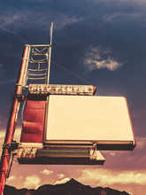 Blank Retro Style Motel Sign