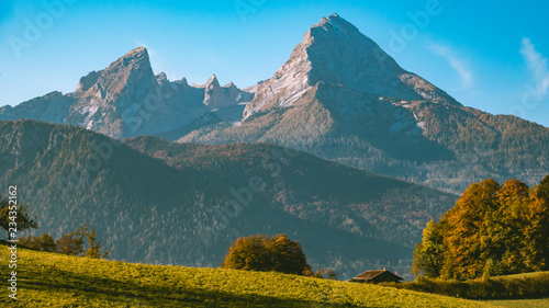 Beautiful alpine autumn view near Berchtesgaden-Bavaria-Germany Fototapet