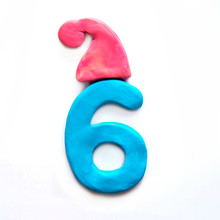 Plasticine Number 6 Six In Win...