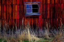 Old Barn In Field In Late Fall...