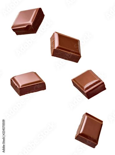 chocolate piece sweet food dessert falling