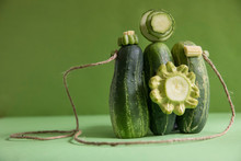 Pieces Of A Pickle In The Shape Of A Camera