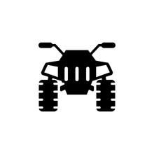 Front View Transport, Quad Bike Icon. Element Of Transport Front View Icon For Mobile Concept And Web App. Glyph Front View Transport, Quad Bike Icon Can Be Used For Web And Mobile