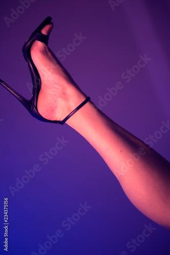 Fotografia, Obraz Sexy legs feet high heels