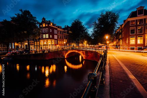 Photo Amazing night in Amsterdam