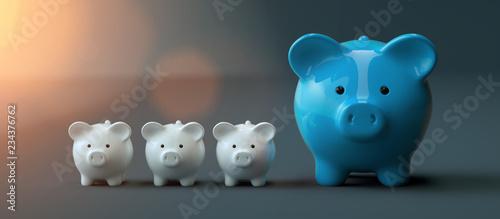 Fotomural Piggy Bank save money investment