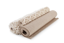Different Rolled Carpets On Wh...