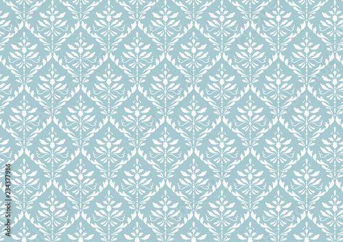wzor-adamaszku-niebieski