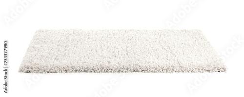 Carta da parati Fuzzy carpet on white background. Interior element