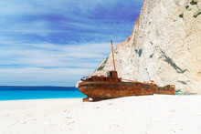 White Sand Of Famous Navagio S...