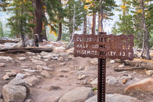 Posted Hiking Trail Sign With ...