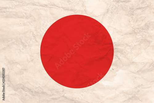 Flag of Japan in grunge style. #234383387