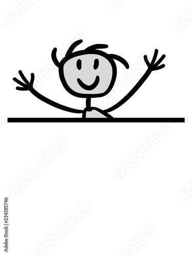 Fotografie, Obraz  junge mauer comic cartoon clipart gemalt free hugs kostenlose umarmungen lustig