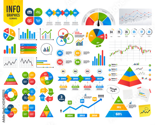 Business Infographic Template Sale Icons Special Offer And Thank