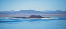 Beautiful Panoramic Summer Vibrant View Of Mono Lake, Salt Lake In Mono County, Lee Vining, California
