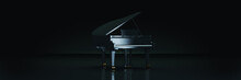 Grand Piano In Dark Background...